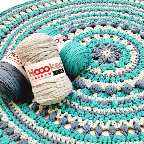 Hoooked Crochet Pattern Ribbon XL Rug