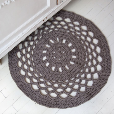 Hoooked Crochet Round Rug Ribbon XL Pattern
