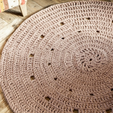 Hoooked Crochet Round Rug Zpagetti Pattern