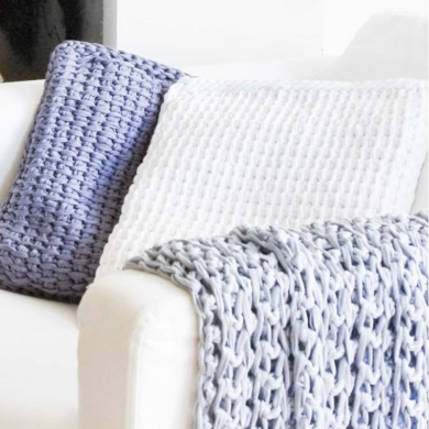 Hoooked Tunisian Cushion Cover Zpagetti Crochet Pattern