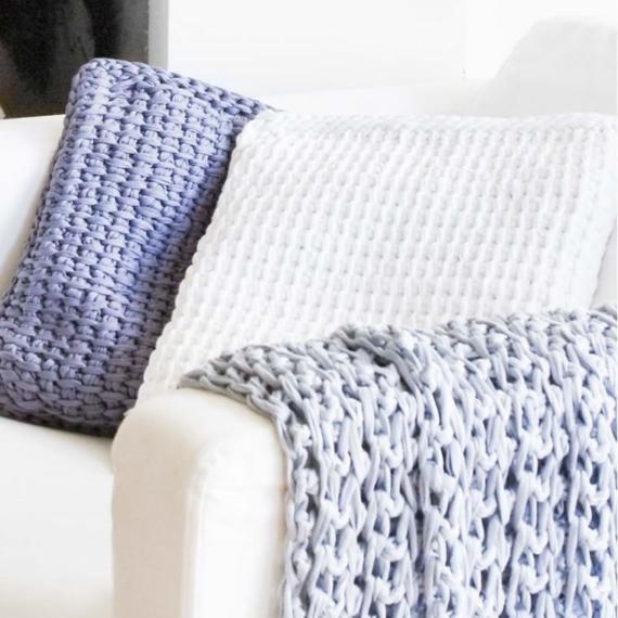 Hoooked Tunisian Cushion Cover Zpagetti Crochet Pattern