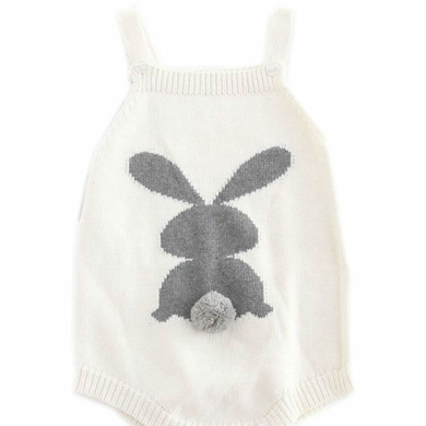 Cotton Bunny Print Romper