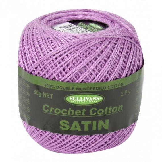 Sullivans Satin Crochet Cotton 2 ply - Lavender