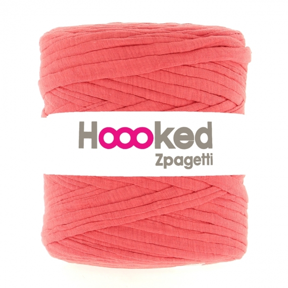 Hoooked Zpagetti Cotton T-shirt Yarn 750g- Fusion Coral