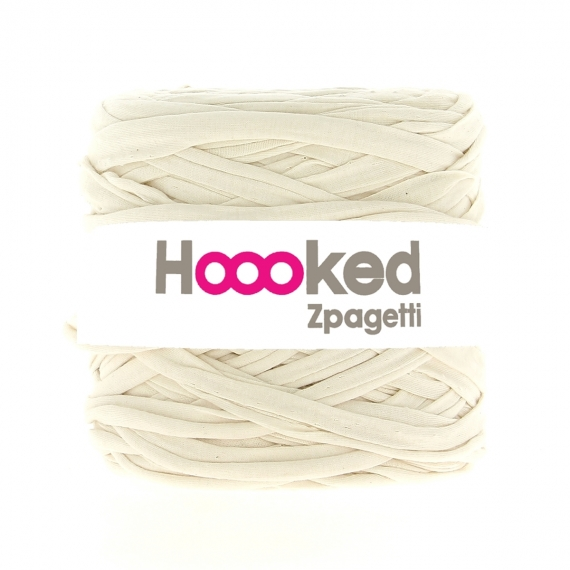 Hoooked Zpagetti Cotton T-shirt Yarn 700g- Cream