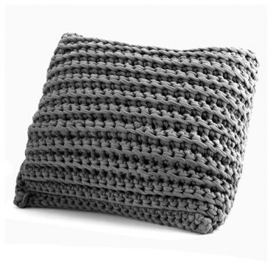 Hoooked Zpagetti Crochet Cushion Kit - Charcoal