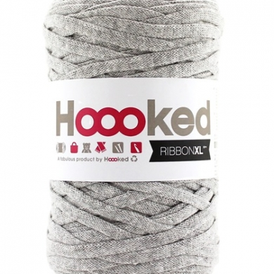 Hoooked Ribbon XL Silver Grey Marl 250g