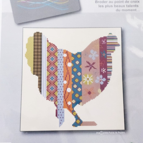 Points De Repere - Cross Stitch Kit Chicken