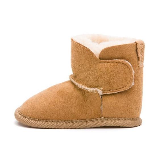 Emu Sheepskin Baby Booties - Chestnut