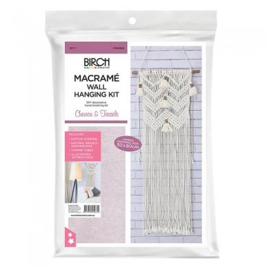 Macrame Wall Hanging Kit - Chevron & Tassels