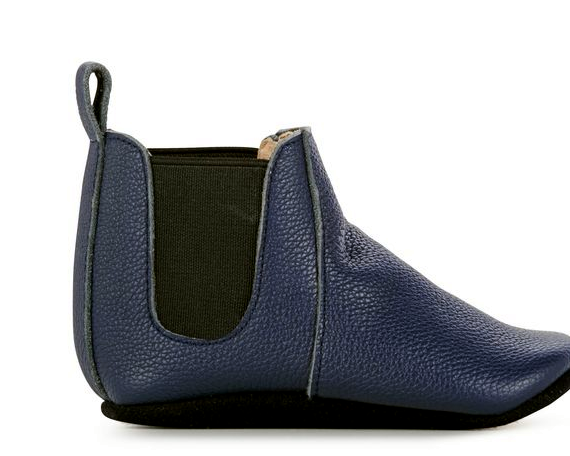 Emu Ruby Leather Baby Booties - Midnight