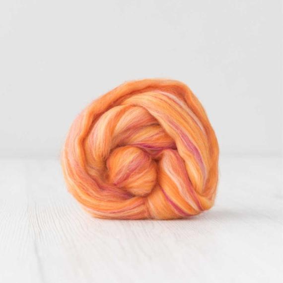 Extra Fine Merino Wool Roving 1kg - Sunset