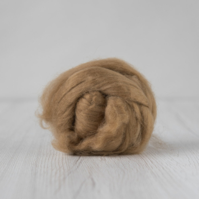 Yak Roving Natural Light Brown 380g