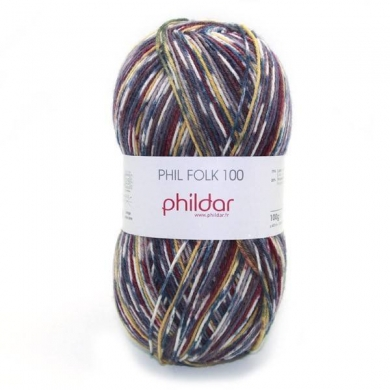 Phildar Folk 100 Sock Yarn 100g - Coyote 1002