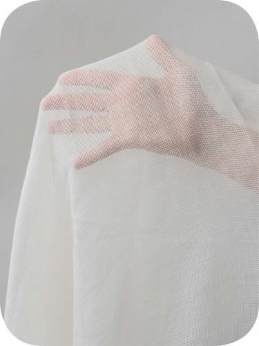 Extrafine Merino Wool Gauze Undyed