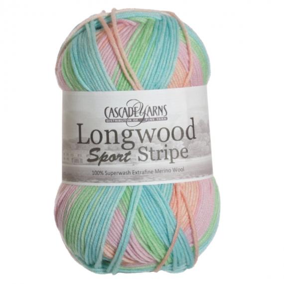 Cascade Longwood Sport Stripe 100g - Candy