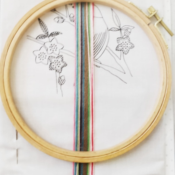 Rico Traced Embroidery - Bird