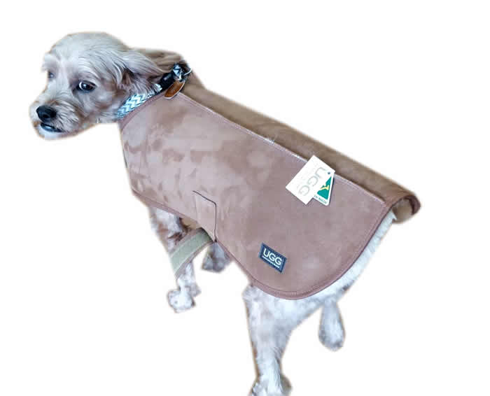 Sheepskin dog coat