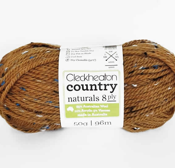 Cleckheaton Country Naturals 8 ply Amber 2014