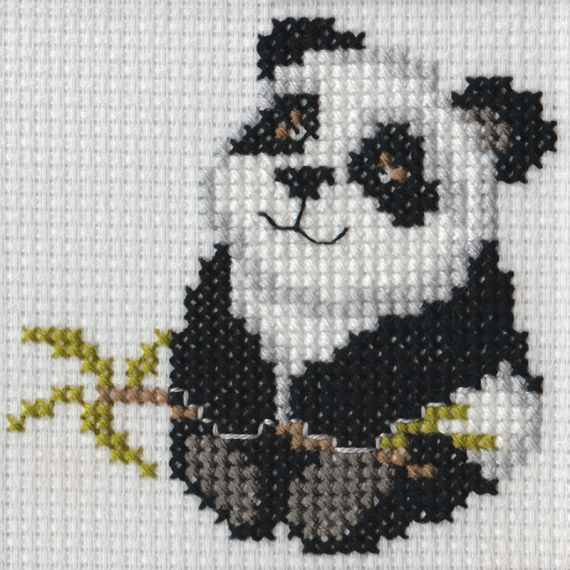 Beutron Mini Panda Cross Stitch Kit