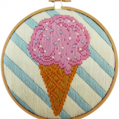 Make It Ice cream Long Stitch Kit