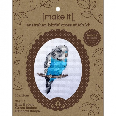 Make it Cross Stitch Budgie Frame Kit