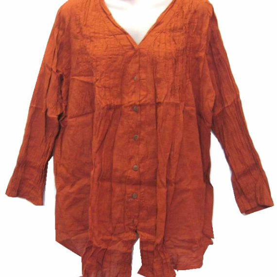 Cotton Top Long Sleeve - Burnt Orange