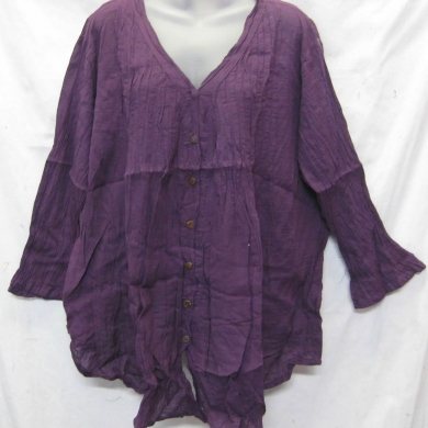Cotton Top Long Sleeve - Purple