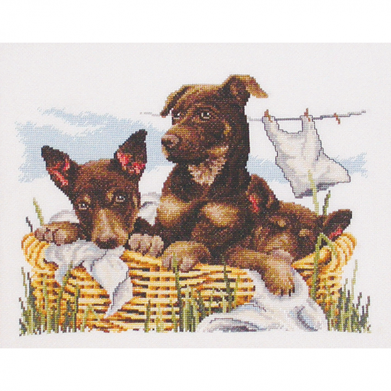 Country Threads Cross Stitch Kit - Wash Day Keplies