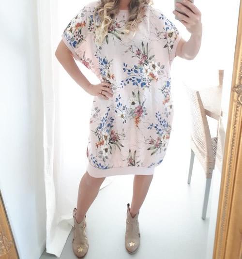 Linen Wildflower Dress - Baby Pink