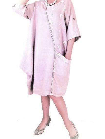 Linen Dress Dusty Pink