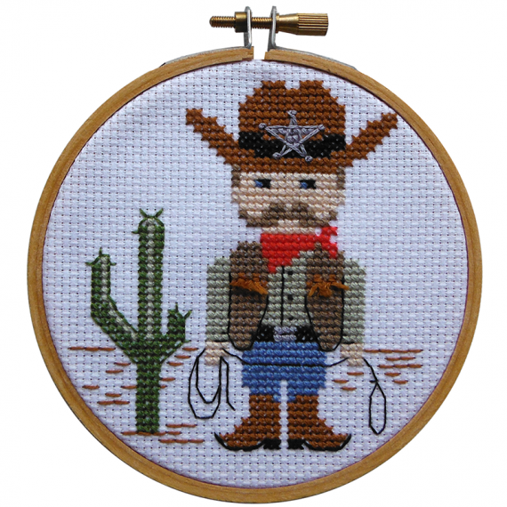 Make It Cross Stitch Kit Cowboy
