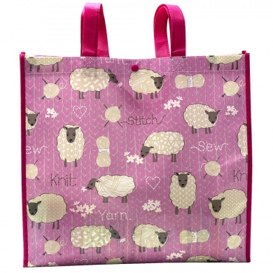 Crafty Tote Bag - Sheep & Yarn