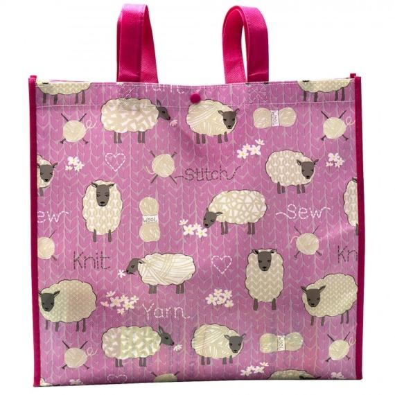 Crafty Tote Bag - Sheep & Yarn