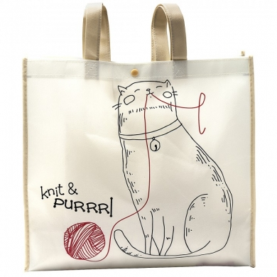 Crafty Tote Bag -Knit & Purrr