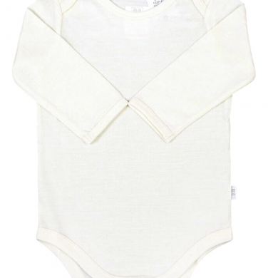 Merino Wool Baby Bodysuit - Cream