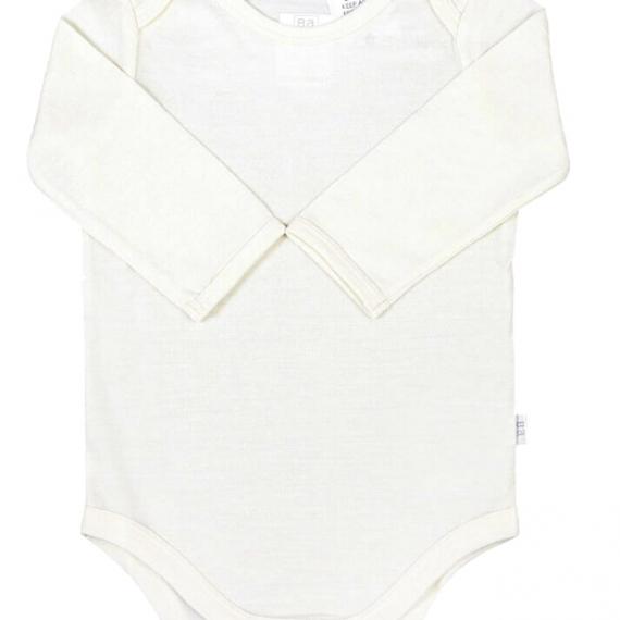 Merino Wool Baby Bodysuit - Cream