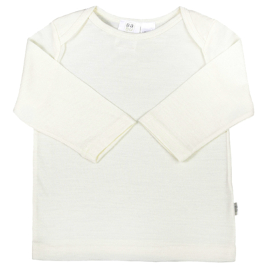 Merino Wool Baby Long Sleeve Top - Cream