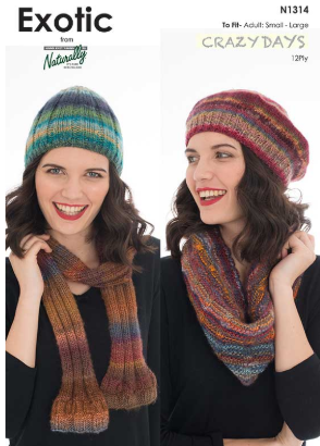 Crazy Days Beanie & Scarves Pattern