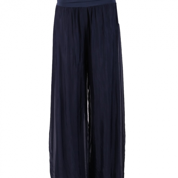 Silk Pants Navy