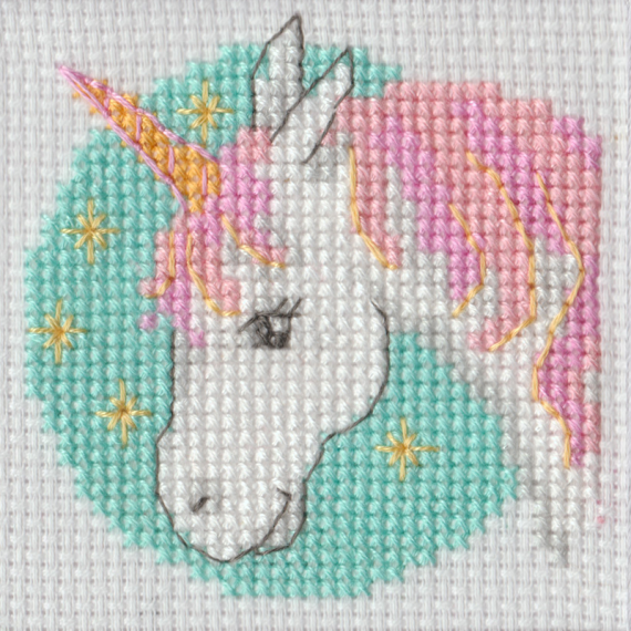 Beutron Mini Unicorn Cross Stitch Kit