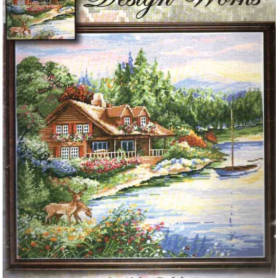 Design Works Counted Cross Stitch Kit - Lakeside Cabin