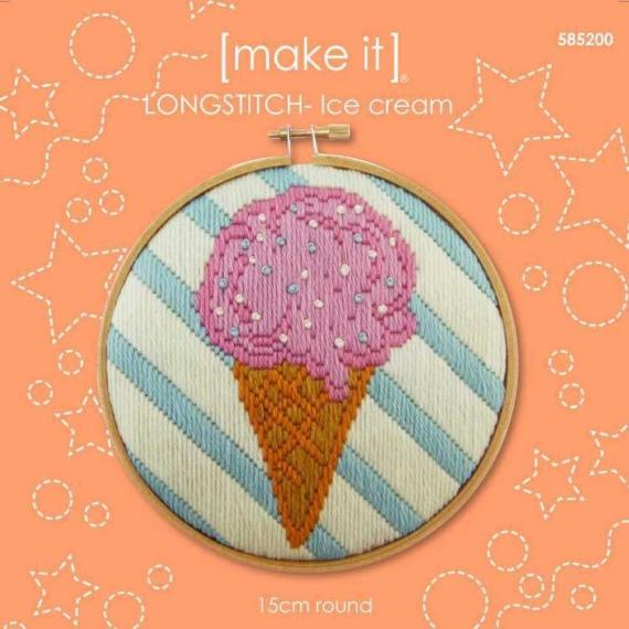 Make It Ice cream Long Stitch Kit