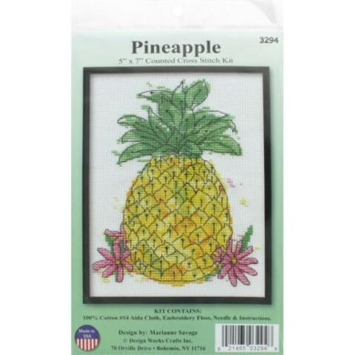 Design Works Counted Cross Stitch Kit - Pineapple