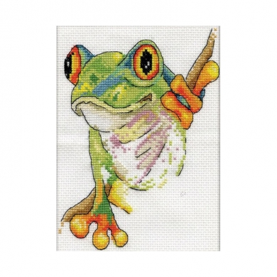 Design Works Counted Cross Stitch Kit - Tree Frog