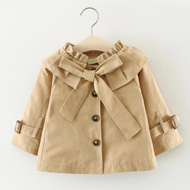 Cotton Long Sleeve Coat - Sand
