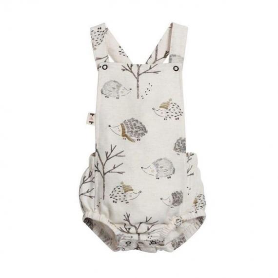 Cotton Baby Romper - Hedgehog