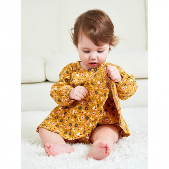 Cotton Baby Dress - Flower Print