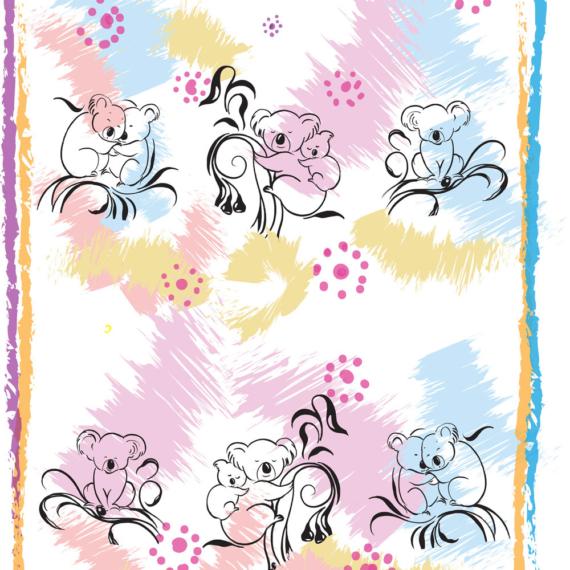 100% Cotton Tea Towel Koalas