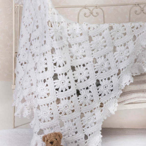 Peter Pan Baby Blanket and Booties Crochet Pattern #1276